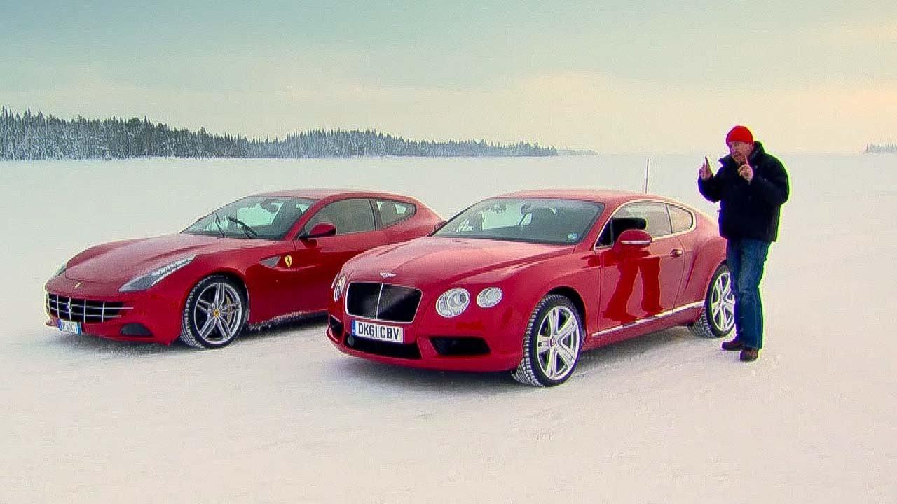 Stig on Ice: Ferrari FF Vs. Bentley Continental V8 - The Stig - Top Gear - BBC