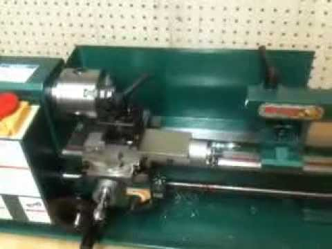 Using an 0.5mm drill bit on my metal lathe