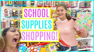 BACK TO SCHOOL SUPPLY SHOPPING W/ MY CRAZY MOM 2017