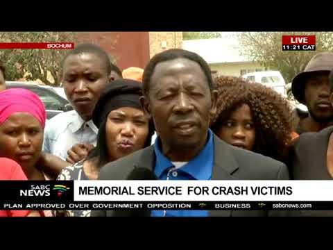 Memorial service for crash victims