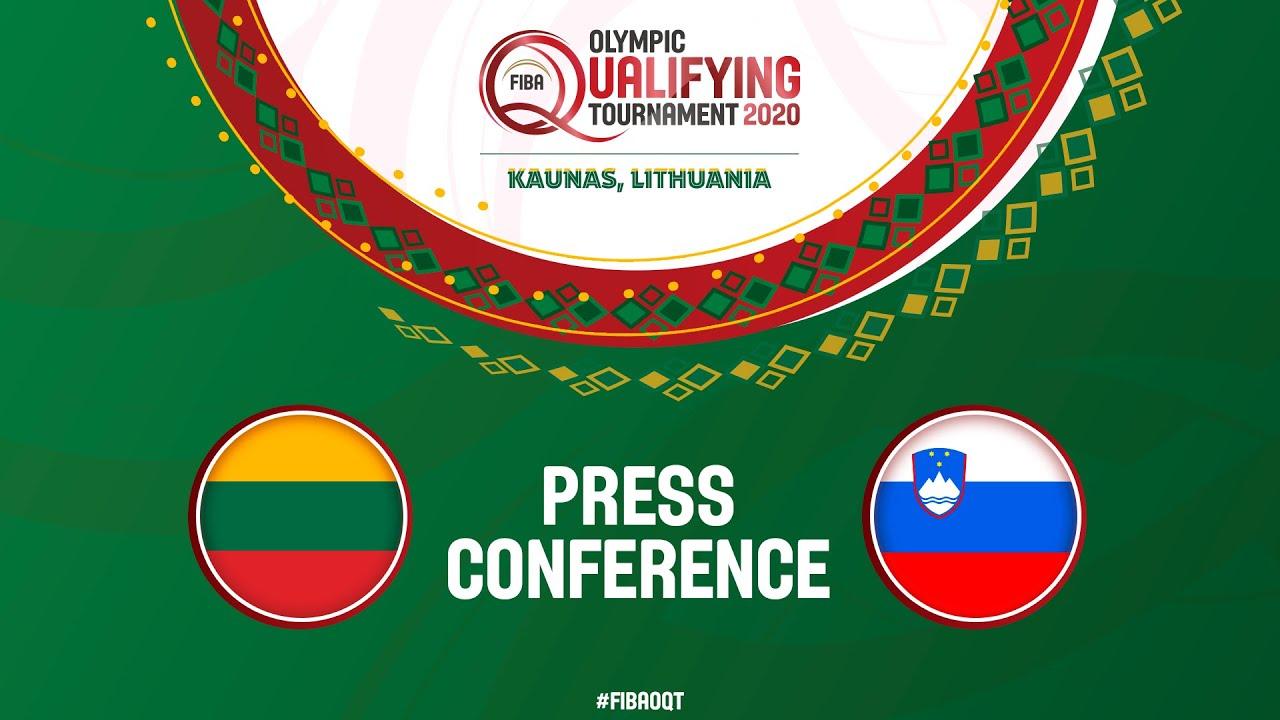Lithuania v Slovenia - Final Press Conference