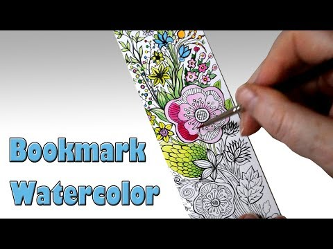 Watercolor Painting on Bookmark from Book Depository Satisfying Relaxing Videos