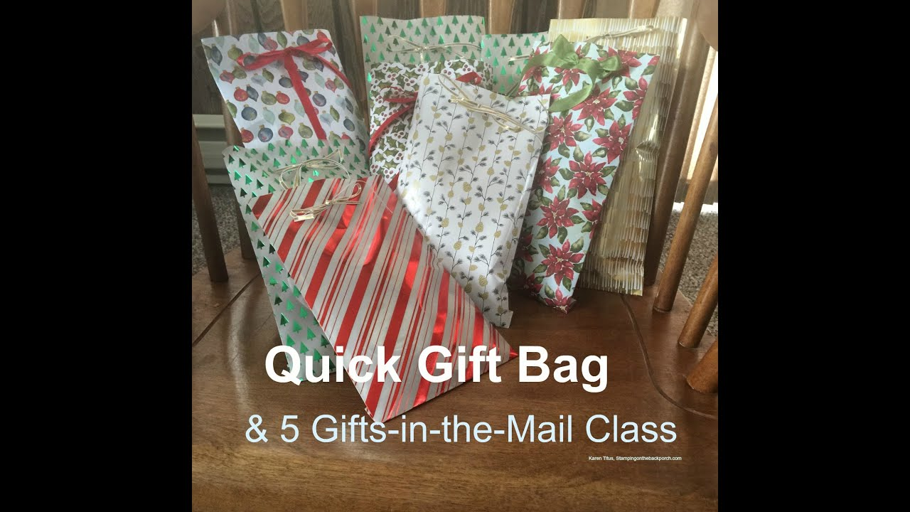 Christmas Gifts Class in the Mail & a Quick Gift Bag! - YouTube