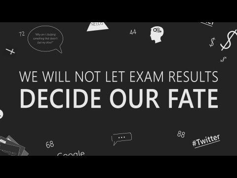 I Will Not Let An Exam Result Decide My Fate    Kinetic Typography