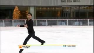 2010 TODAY lysacek Olympic winning interview and skating Nutcracker prelude