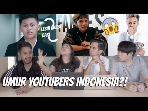 OMG! berapa UMUR para YOUTUBERS Indonesia?!