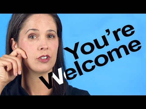 How to Pronounce YOU'RE WELCOME -- American English - YouTube