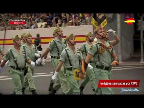 La Legión en la Fiesta Nacional España 12 Octubre 2018