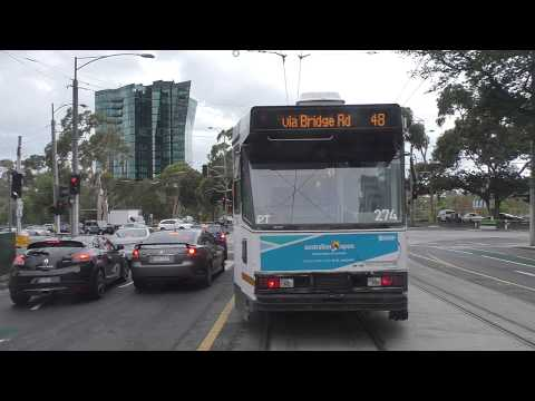 Melbourne Tram Drivers View Route 48 To North Balwyn Daytime View