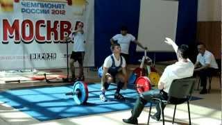 Дубровин Георгий, ЧР 2012 AWPC троеборье
