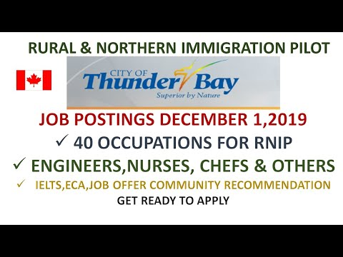 Thunderbay Ontario- Rural And Northern Immigration Pilot