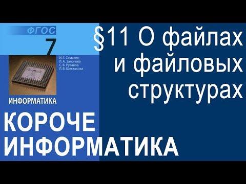 Информатика 7 класс. §11. Основные характеристики персонального компьютера