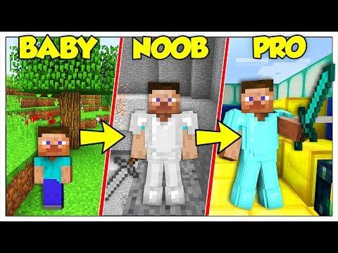 LA STORIA DELLA VITA DI STEVE DA NOOB A PRO! - Minecraft ITA