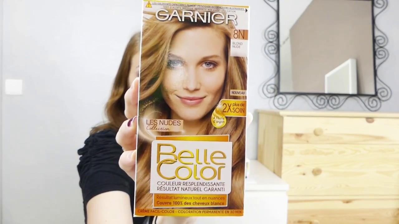 Belle Blond ○ test garnier belle color   blond nude ○ - youtube