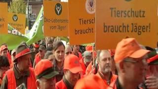 Freies Schussfeld für freie Bürger: 2.500 Jäger protestierten in Wiesbaden