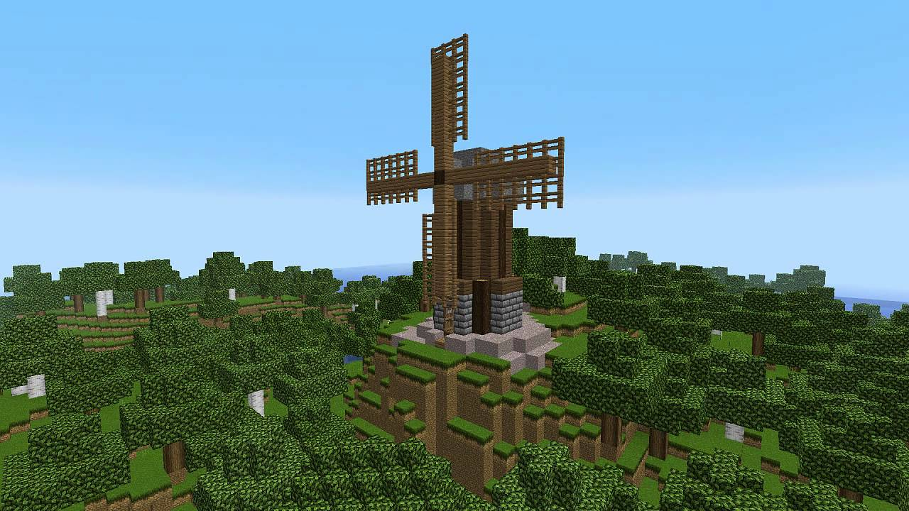 Minecraft 30 Second Builds Windmill YouTube