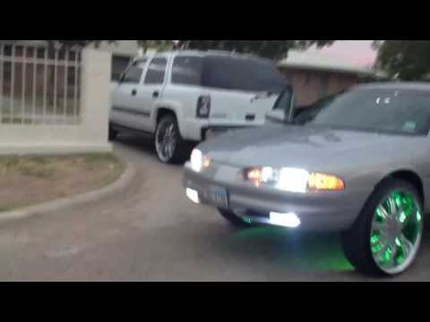 """Oldsmobile  Intrigue on 24""""s with LED Show Lights & JL Audio 13.5W7 AE & JL Audio 1000/1"""