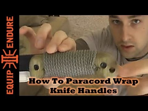 How to Para Cord Wrap a Knife Handle for a BK-2 , Equip 2 Endure