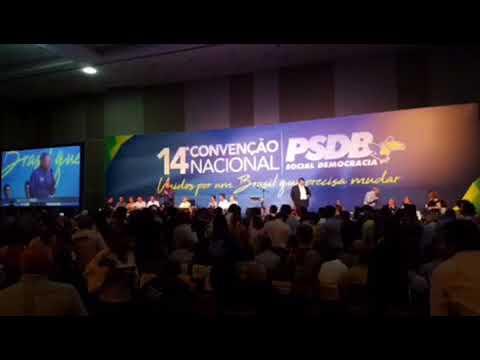 Arthur discursa na convenção nacional do PSDB e defende prévias