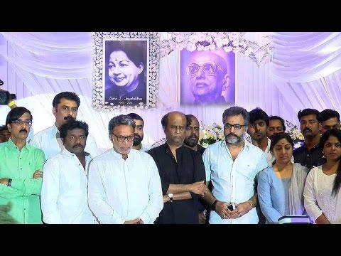 Nadigar Sangam Latest News - Nadigar Sangam Offer Condolence to Jayalalithaa