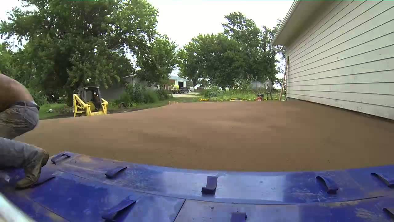 Speedscaping 01 12 Quot Wood Grain Cement Stamping Youtube