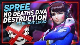 SPREE No Deaths D.VA Destruction - Reddit Lucio Game on Illios