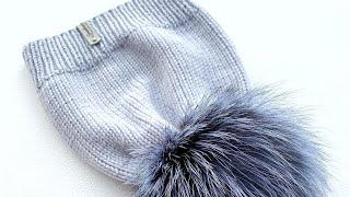 Самая простая шапка лицевой гладью спицами