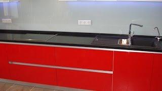 Кухонная мебель под заказ . Фасад Мдф глянец . Фурнитура BLUM + Скинали + Диоды(, 2015-06-21T18:02:30.000Z)