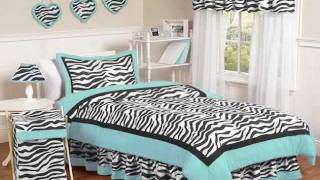 Zebra Bedding-Hot Pink & Black, Purple, Blue & Green Zebra Print Bedding