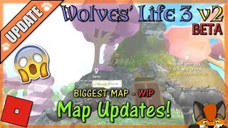 Roblox - Wolves' Life 3 v2 BETA - BIGGEST MAP (WIP) #18 - HD