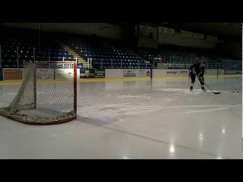 Stonehenge Hockey Puck Snipe Trick Shot: Like Sidney Crosby's Pyramid Trick  HD