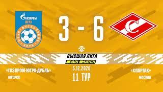 Обзор Париматч Высшая лига Запад 11 тур Газпром Югра д Спартак 3_6