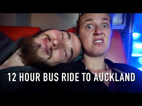12 HOUR OVERNIGHT BUS RIDE TO AUCKLAND!