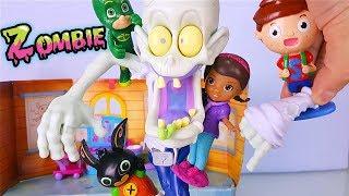 ZED lo ZOMBIE 👻 Geco, Splash e Bing aiutano Dottie a curare uno Zombie! [Halloween Challenge]