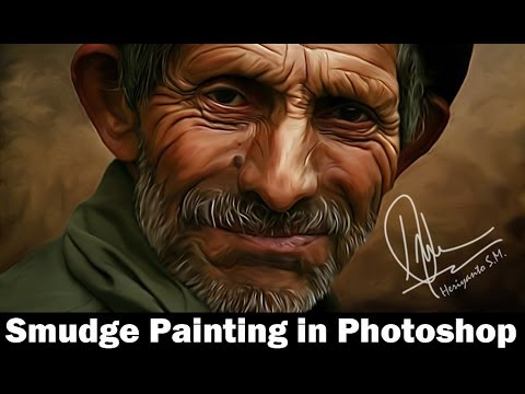 Smudge painting tutorial photoshop tutorial smudge painting look.