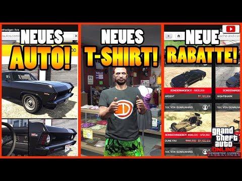 🙌ALLE Neuen Inhalte! VAMOS, T-SHIRT, RABATTE Und Mehr!🙌[GTA 5 Online Arena War Update] thumbnail