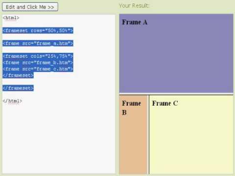 HTML Frames By Eric Hamilton