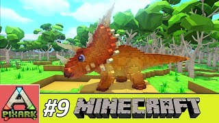 PIXARK - Minecraft Ark #9 - Taming Triceratops - Thuần Hóa Khủng Long Triceratops