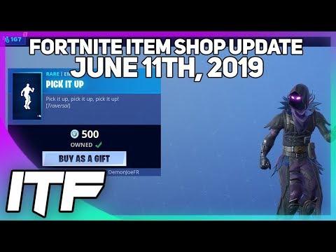 Fortnite Item Shop *NEW* PICK IT UP EMOTE! [June 11th, 2019] (Fortnite Battle Royale)
