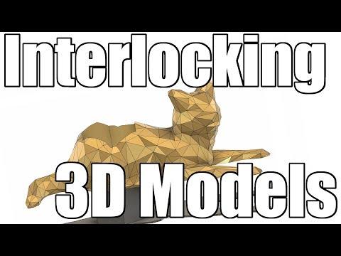 Fusion 360: Splitting an .STL Model Into Interlocking Parts