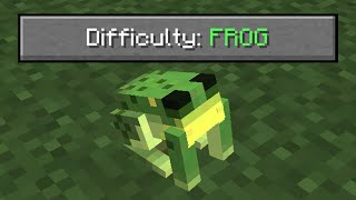 i beat minecraft as a frog