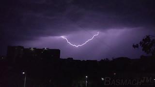 Молнии над Бишкеком (так же смотрите видео со скоростью 0.25)