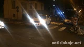 Carro foge da Polícia e causa gravíssimo acidente, no Centro de Caçador