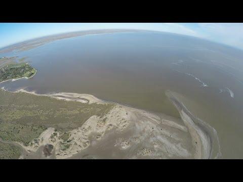 Unión del Río de La Plata con el mar desde un drone 1 - Punta Rasa - Dji Phantom Argentina