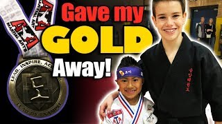 I Gave my Gold Medal Away!
