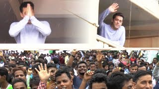 Salman Khan Celebrating EID With Fans | Outside Galaxy Apartment