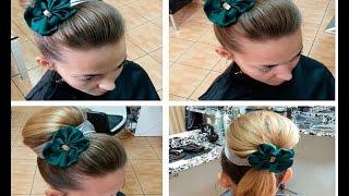Прическа для длинных волос: Бабетта. Bun hairstyles for long hair