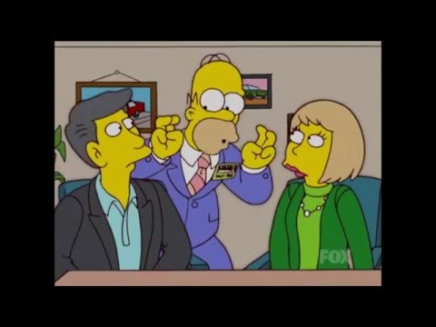 The Simpsons - Homer becomes a car salesman