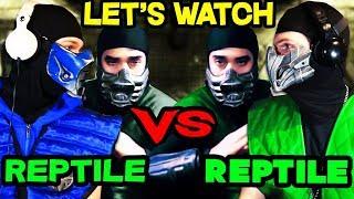 REPTILE REACTS MORTAL KOMBAT CONQUEST Reptile Vs Reptilian W Sub Zero MKX REACTION PARODY
