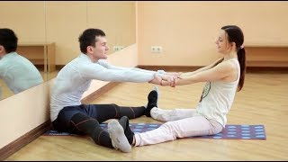 Комплекс упражнений на растяжку спины и ног для мужчин. Парный стретчинг.